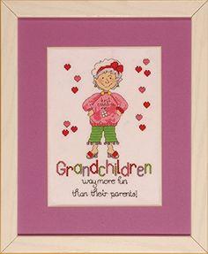 "Design Works ""Grandchildren"" Counted Cross Stitch Kit Design Works Crafts http://www.amazon.com/dp/B00FJRTA1E/ref=cm_sw_r_pi_dp_3qEjub15EJHSR"