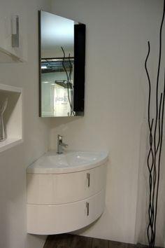 Lavamanos y mueble en esquina para ba os peque os espejo esquinero casa pinterest ba o - Mobile bagno angolare ...