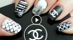 Chanel Beyaz ve Siyah Desenli Tırnak Süsleme, oje, tırnak süsleme, tırnak boyama, nail art, nail polish, nail art tutorial