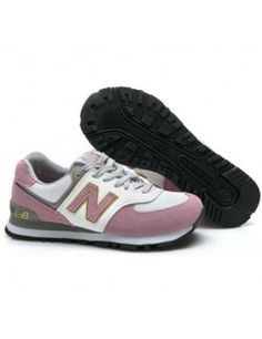 NEW BALANCE 574 FEMME PINK ROUGE BLANC CHAUSSURES New Balance White, New  Balance 574 Femme 51d781d258ca