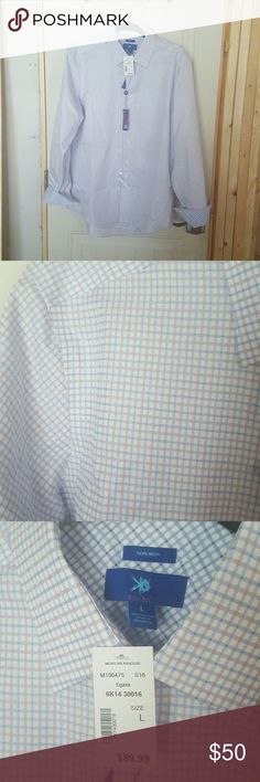 Egara Men's Oxford Shirt This shirt I believe is refered to as the Rasberry & Blue check pattern and has contrasting blue check sleeves.  Father's Day is coming up and if the man in your life has never worn an Egara shirt or if you are not familiar with the brand, they will be addicted to the nice quality of the fabrics they use.  **I was not paid or compensated in any way to say this**  Love love love this shirt, but sadly this does not fit my husband.  Our loss is your gain! Egara Shirts…