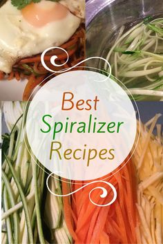 You can #spiralize anything from carrots to parsnips, zucchini and rutabaga. These #spiralized recipes are all healthy and delicious