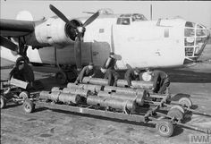Download of the 250-pound depth charges Mark VIII liberator GR Mk VA out of 53 squadron at the airbase St ivel, Cornol