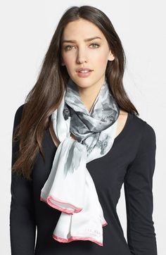 Ted Baker London 'Sugar Sweet Floral' Silk Scarf available at #Nordstrom