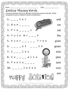 Back to School Missing Words   The Puzzle Den - Free Puzzles ...