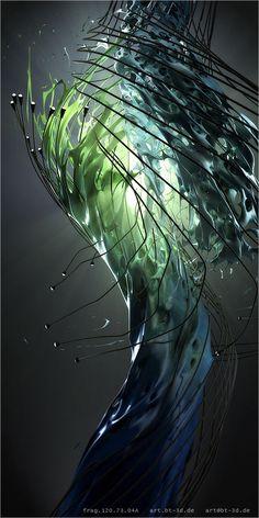 series by tim borgmann - amazing digital art Generative Kunst, Hight Light, Fractal Design, Illustration Art, Illustrations, Cg Art, 3d Prints, Grafik Design, Fantasy Art