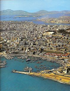 "This is my Greece | Aerial photo of Pireaus from late 1960s - early 1970s scanned from the book ""Athens - The City and Its Museum"""