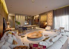 Divulgação Living Room Interior, Home Living Room, Living Room Decor, Home Theater, Family Room, House Design, Interior Design, Architecture, Live