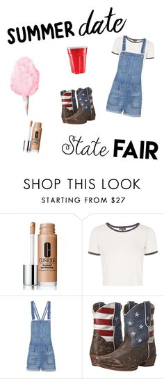 """""""State Fair Summer Date"""" by dirtbikebabe28 ❤ liked on Polyvore featuring Clinique, Topshop, Madewell, Roper, statefair and summerdate"""