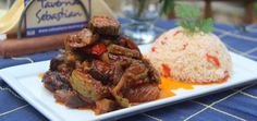 """Sebastian's Authentic Greek Cuisine - Briam _ """"Briam is a summer favourite. The whole garden seems to be in this beautiful, colourful dish."""