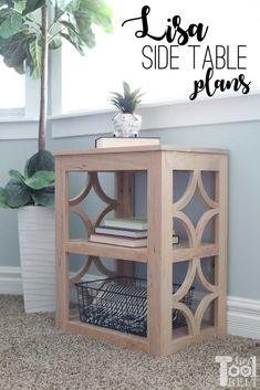 Build a cute little side table with diamond side detail. Family Room Furniture, Wood Furniture, Furniture Makers, Furniture Projects, Bedroom Furniture, Tool Belt, Diy Schmuck, Table Plans, Diy Home Decor