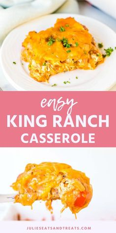 creamy chicken casserole King Ranch Casserole is a delicious Tex Mex Casserole recipe that hails from Texas. It has layers of corn tortillas, cheese and creamy chicken filling King Ranch Chicken Casserole, Creamy Chicken Casserole, Easy One Pot Meals, Quick Easy Meals, Easy Chicken Recipes, Easy Dinner Recipes, Dinner Ideas, Keto Chicken, Easy Casserole Recipes