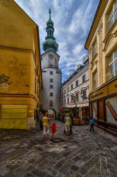 Old town, Bratislava by Rana Jabeen Earth City, Bratislava Slovakia, Alleyway, Eastern Europe, Old Town, Travel Destinations, Street View, Around The Worlds, Explore