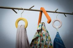 We use any form to hang #hangwithcare #triangle #circle #hangers #creative #madeinitaly