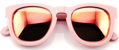 Cool with a capital C these shades scream bona fide club kid, with their totally up-to-the-minute styling and super hip pastel hue. These are the pair you want to grab as the sun slowly sets and you stand, ultra-hip cocktail in hand soaking up good vibes in an Ibizan or St Tropez beach side club. Wear with a bikini top, denim hotpants, and oodles of confidence, or compliment with a sheer cotton kaftan and a cute pair of sandals when it's time to cover up.
