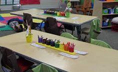 Maggie's Kinder Corner: This handy dandy Crayon Organizer! Preschool Classroom Setup, Inclusion Classroom, Classroom Hacks, Classroom Environment, Classroom Design, Classroom Decor, Crayon Organization, Organization And Management, Classroom Organization