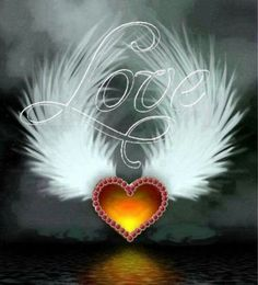 By Artist Unknown. Love Heart Images, Heart Pictures, I Love Heart, Love Pictures, Angel Wallpaper, Heart Wallpaper, Love Wallpaper, Wallpaper Backgrounds, Wallpapers