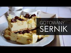 Sernik gotowany - absolutny hicior - jak zrobić? - YouTube Goat Cheese, Tiramisu, Cheesecake, Food And Drink, Baking, Ethnic Recipes, Polish, Youtube, Cakes