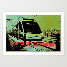 Oporto Train Art Print by Pedro Nogueira - $18.00