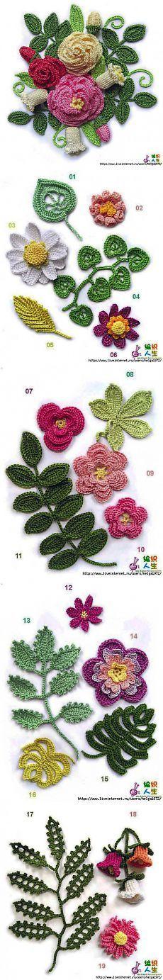 Вязанные цветы | Вязание крючком и спицами