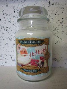 NOSTALGIC SNOW Yankee Candle 22 oz Jar   eBay