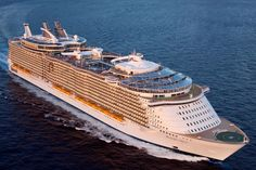 Allure of the Seas - aerial view