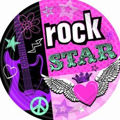 Rocker Girl Dessert Plates Pkg/8 [Toy] [Toy] by Amscan. $4.56. Finding the perfect party plates can be a piece of cake! Sold in packages of 8, our 7-inch round Rock Star Girl cake plates feature a pink, black, teal and purple punk design of an electric guitar, winged heart and the words Rock Star.. Your punk princess will truly feel like a rock star when you coordinate these plates with the rest of our matching party supplies.