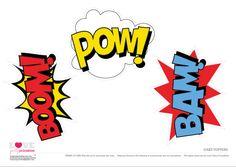 Superhero Party Free Cake Topper Prntables | CatchMyParty.com