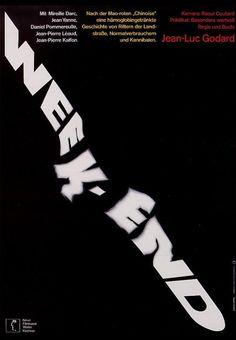 Week-end (Jean-Luc Godard) poster by Hans Hillmann #FontsinMotion @RobertBrownjohn via @donald_soutar