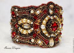 """Купить Браслет """"Индийская невеста"""" / """"Indian Bride"""" Bracelet - ярко-красный, золотой"""