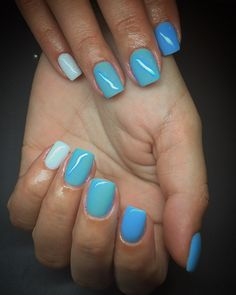 #nailsart #bluenails #summerstyle #nailsswag