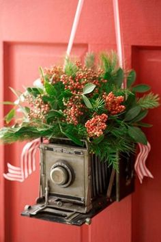 Vintage Camera - You'll Love These Unique Twists on Traditional Christmas Decor - Photos
