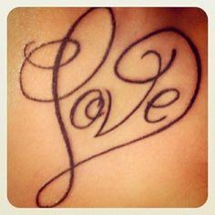Love Heart Tattoo.