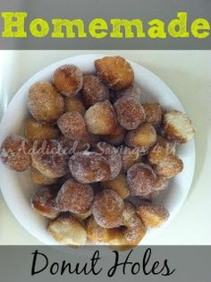 Quick and Easy home made donut holes that are Kid approved!