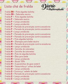 Dica de Lista de Chá de Fralda