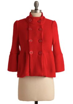 Poinsettia the Way Jacket from ModCloth