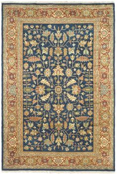 SR808B Rug from Samarkand collection.  Exquisitely designed luxury carpets in the finest traditions of Khotan rug artistry. Dazzling colors radiate from oasis-inspired motifs and a soft, rich wool pile that ties together the incredibly universal allure of these traditionally styled area rugs. A classic look to accentuate any sophisticated decor.