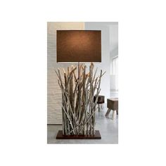 design wooden floor lamp 'NERIKOH' by Frank Lefebvre & Bastien Taillard BLEU NATURE