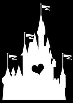 Heart Disney World / Cinderella Castle / Disneyland / Sleeping Beauty Castle Vinyl Car Decal by WibblyWobblyThings on Etsy