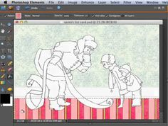 Photoshop Elements adding pattern to card