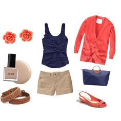 Navy & Coral, not the shorts.