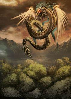 Quetzalcoatl - Tlillan by *GENZOMAN on deviantART