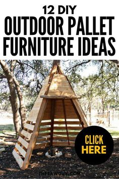 Have fun with your outdoor space and check out our  list of 12 DIY outdoor pallet furniture ideas for inspiration. Making your patio or backyard look great need not cost a fortune. Click on!  #thesawguy #outdoorfurniture #DIYfurniture #palletfurniture #DIYpalletfurniture #palletfurnitureideas #DIYhome #backyardideas