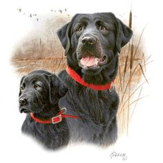BLACK LABRADOR RETRIEVERS called The Legacy One by TheLonesomePet, $13.99