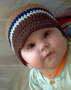Crocheted Baby Brim Hat