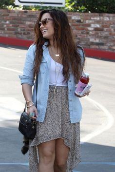 I love how Demi lovato's style is the perfect balance of girly and tomboy/badass. I want that style. I feel like it's more me, ya know?