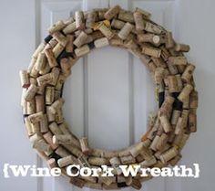Wine cork wreath from Pool Noodles ● Diy
