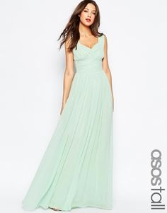 ASOS Tall | ASOS TALL WEDDING Ruched Panel Maxi Dress at ASOS