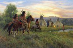 A Welcome Fire - Original Painting by Robert Duncan