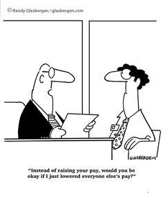 Fair enough? /cartoon by Randy Glasbergen/